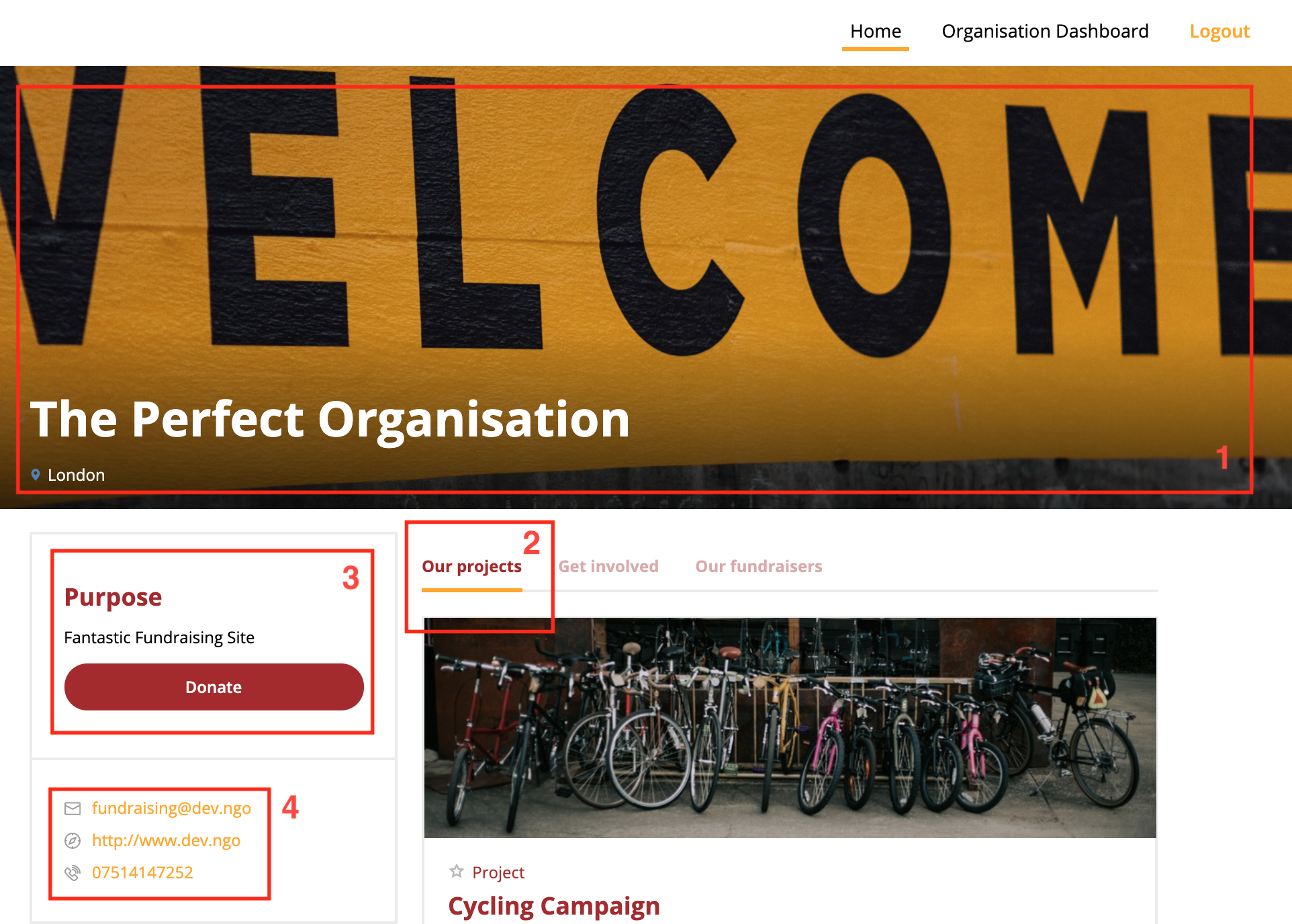 Organisation Home Page